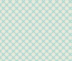 fleur_aqua_M fabric by nadja_petremand on Spoonflower - custom fabric