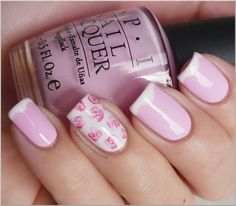White & Pink Roses #beauty #nails