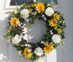 Sunny Days Ahead Door Wreath For Spring Summer Everyday Decorating Wreaths For doors http://www.amazon.com/dp/B00UI0B3JE/ref=cm_sw_r_pi_dp_FMLavb1KX3D9V