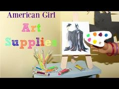 How to Make American Girl Art Supplies - YouTube