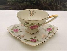 Antique teacup and saucer Alka Bavaria teacup and saucer