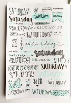 Bullet Journal Weekly Headers For You To Copy Want some inspiration for your bullet journal? Try out these super easy weekly headers in your next spread in your journal! Check out this post to find creative bullet journal weekly header ideas for every day Bullet Journal School, Bullet Journal Headers, Bullet Journal Lettering Ideas, Bullet Journal Banner, Bullet Journal 2019, Bullet Journal Notebook, Bullet Journal Ideas Pages, Bullet Journal Inspiration, Art Journal Pages