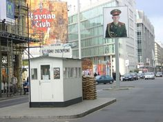 Check Point Charlie - Berlin. I was here in 1987 when this place was still armed. Took us an hour to get through.