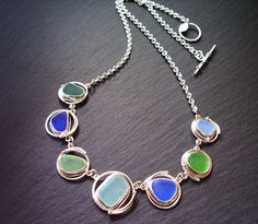 Yes, please to this sea glass necklace