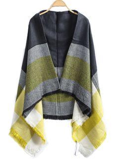 Shop Yellow Black Fringe Scarve online. Sheinside offers Yellow Black Fringe Scarve & more to fit your fashionable needs. Free Shipping Worldwide!