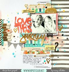 Hip Kit Club DT Project - by Missy Whidden - 2015 February Kits - We R Memory…