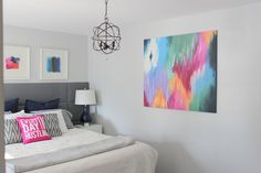 12 Amazing DIY Ways to Decorate a Blank Canvas - Abstract