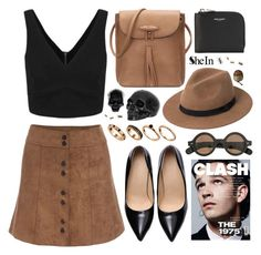 sheinside by ruska-10 on Polyvore featuring polyvore, fashion, style, Yves Saint Laurent, ASOS, MANGO, Aubin & Wills, D.L. & Co., women's clothing, women's fashion, women, female, woman, misses, juniors and shein