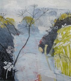 Lane by Maggie Matthews, mixed media on paper, available from: www.cornwallcontemporary.com
