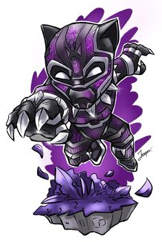 Black Panther Purple Suit Art iPhone Wallpaper Source by fullhdwallpapers Chibi Marvel, Marvel Art, Marvel Dc Comics, Marvel Heroes, Chibi Superhero, Chibi Characters, Marvel Characters, Fictional Characters, Marvel Drawings