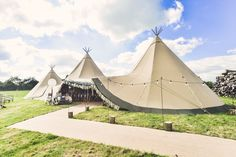 Three giant Kata Tipis and our smaller Kungs Tipi at our Beautiful Botanical themed Autumn Open Weekend in the glorious September sunshine. Shot by the super threesixsevennine ‪ ‪ ‪ ‪ ‬‪ ‪ ‪ ‪ ‪ ‪ ‪ ‪ Tipi Wedding, Marquee Wedding, Rustic Wedding, Wedding Venues, Wedding Ideas, Tipi Hire, Festival Themed Wedding, Countryside Wedding, Wedding Mood Board