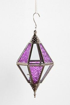 Faceted Glass Lantern from Urban Outfitters   Shop Urban Outfitters through shop.fuelperks.com and earn fuelperks! rewards!
