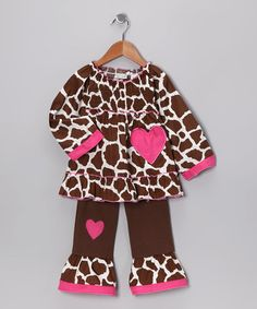 Take a look at this AnnLoren Brown Giraffe Tunic & Pants - Toddler & Girls by Cornucopia of Cute Collection on #zulily today!