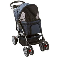 Blue 4-Wheel Night Rider Pet Stroller Jogger *** You can get additional details at the image link.