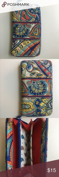 Vera Bradley wallet Vera Bradley wallet. Fits iPhone plus and US passport. In like-new condition. Vera Bradley Bags Wallets