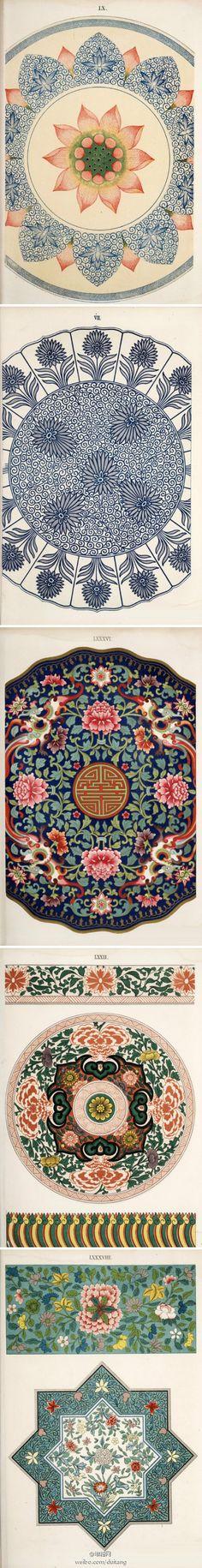chinese traditional pattern design // Patterns, Fabrics, Prints & Dessins
