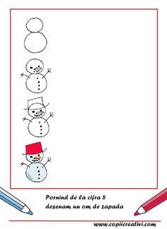Cute Drawings For Kids, Drawing For Kids, Easy Drawings, Alphabet Drawing, Number Drawing, Drawing Lessons, Step By Step Drawing, Animal Drawings, Preschool Activities