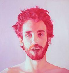 jen mann 10 portrait painting pink