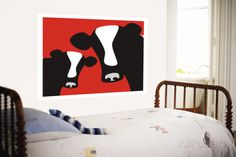 Red Cows Wall Mural by Avalisa at AllPosters.com