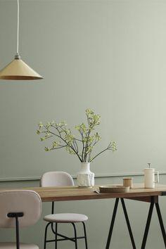 Comfy pastel dining room design ideas 00024 ~ Home Decoration Inspiration Room Interior Design, Dining Room Design, Design Room, Design Design, Design Trends, Green Dining Room, Design Ideas, Slow Design, Scandinavian Interior