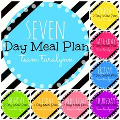 Easy to follow seven day meal plan. Some healthy meal plans are super specific, but this one you can adjust to fit your own life and based on what you have!