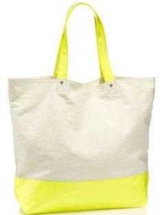 Neon canvas bag