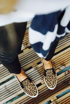 Leopard slip on sneakers #fashion #casual #leopard