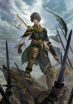 Human Staff Magus - Pathfinder PFRPG DND D&D d20 fantasy