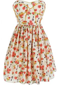 Dress by Minuet in Cream for the spring and summer time