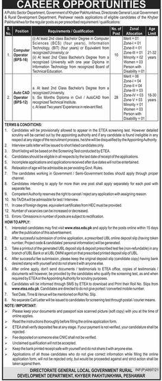 Public Sector Organization Jobs 2021 In KPK