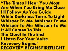 RECOVERY BEGINS|FIREFLIGHT