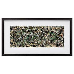 Buy Jackson Pollock - Lucifer Framed Print,  54 x 112cm Online at johnlewis.com
