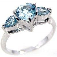 1.50ctw Genuine Blue Topaz & Solid .925 Sterling Silver Gemstone Ring (SJR10111BT). Buy Now: http://www.sterlingsilverjewelry.tv/genuine-blue-topaz-925-sterling-silver-gemstone-ring-sjr10111bt.html #SterlingSilverJewelry #silverrings #sterlingsilverrings #ringsilver #silverringdesigns #handmaderings #silverringssterling #Rings #RingsJewelry