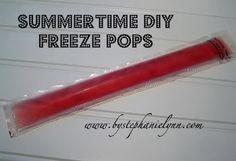 Healthy Summertime DIY Freeze Pops