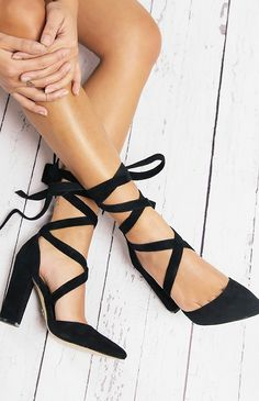 Windsor Smith Bryony Heel - Black Suede from pepeprmayo.com