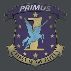 Battlestar Galactica Primus Badge Grey T-Shirt