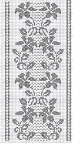 Techniques To Boost Sales on the business of interior design (Pattern) - Crochet Filet Filet Crochet Charts, Crochet Cross, Crochet Motif, Crochet Doilies, Crochet Stitches, Crochet Patterns, Cross Stitch Borders, Cross Stitch Designs, Cross Stitch Patterns
