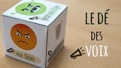 French dice: speaking voices to improve fluency. Le dé des voix Plus Autism Education, Education Positive, French Teaching Resources, Teaching French, Day Camp, French Teacher, Feelings And Emotions, French Lessons, Teaching Music