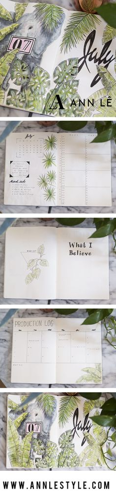 PLAN WITH ME July 2017 Bullet Journal Set Up – Ann Le Style