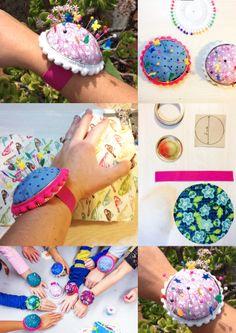 Pincushion bracelet and tutorial on : http://mylittleprintfabrics.com