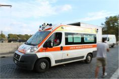 A Catholic hospital is located on the Tiber Island. Ambulances frequently cross the bridge with a high speed to bring injured people to the hospital.