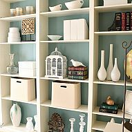"Hometalk :: We purchased four Ikea Billy bookcases and ""built them"" in with trim w…"