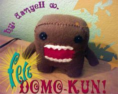 Completed Project: Felt Domo Kun Picture #1