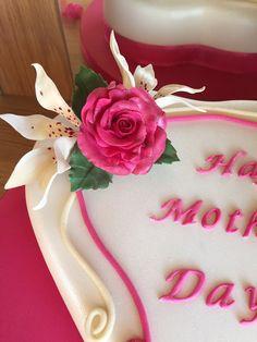 Sugar Flowers, Cake, Desserts, Food, Tailgate Desserts, Pie, Kuchen, Dessert, Cakes