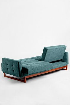 {Either/Or Convertible Sofa} this is the ultimate in multi-functionality + love its Mid Century Modern vibe