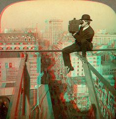 Stereo Photographer Above 5th Avenue, New York anaglyph3D