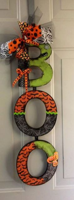 """Boo"" door decoration!"