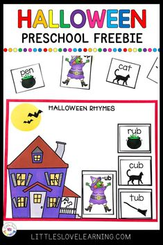 Room on the Broom by Julia Donaldson is a great Halloween book for preschool, pre-k, & kindergarten. Click through for FREE activities and printables inspired by this book. Includes a craft (Witch's Broom), a snack (Broomstick Pretzels), and a FREE Rhyming printable. Can be used in your homeschool preschool or in your preschool classroom with your students (add to your October Lesson Plans) Reinforces early literacy concepts such as phonemic awareness and makes reading FUN! #preschool #prek Preschool Phonics, Rhyming Activities, Preschool Classroom, Hands On Activities, Kindergarten, Halloween Rhymes, Halloween Books, Room On The Broom, Rhyming Words