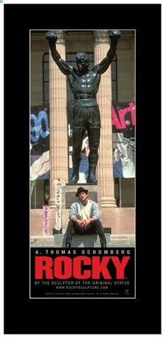 Rocky & his statue Rocky Stallone, Rocky Sylvester Stallone, Rocky Balboa, Silvestre Stallone, Rocky Film, Cinema Tv, The Expendables, Find Picture, Wedding Humor
