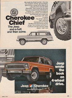 1976 #Jeep Cherokee Chief Magazine Ad